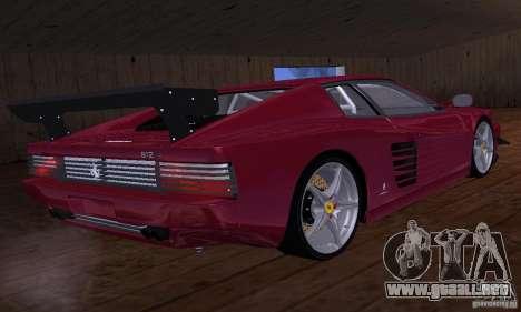 Ferrari 512 TR para vista inferior GTA San Andreas