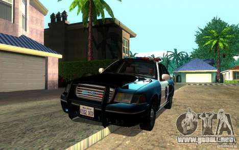 Ford Crown Victoria para vista lateral GTA San Andreas