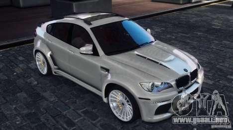BMW X6 Hamann para GTA 4 Vista posterior izquierda