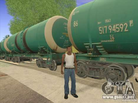 Tanque no. 517 94592 para vista lateral GTA San Andreas