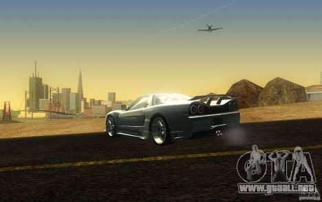 Honda NSX VeilSide Fortune para GTA San Andreas vista posterior izquierda