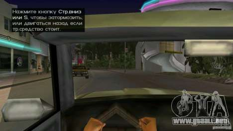 Vista desde la cabina para GTA Vice City