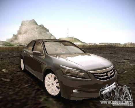 Honda Accord 2011 para la visión correcta GTA San Andreas
