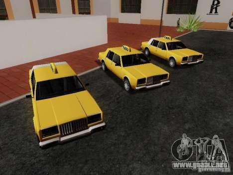 Greenwood Taxi para la visión correcta GTA San Andreas