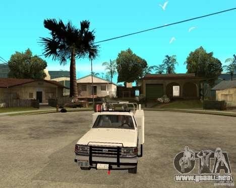 Ford F150 1992 Utility Van para GTA San Andreas vista hacia atrás