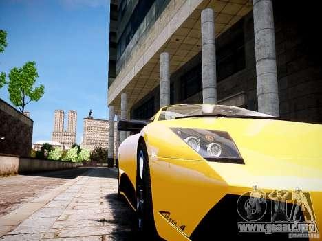 Lamborghini Murcielago LP650-4 Roadster para GTA 4 Vista posterior izquierda