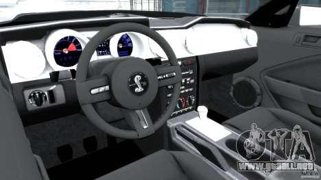 Shelby GT500KR 2008 para GTA 4 visión correcta