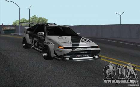 Toyota Corolla AE86 Shift 2 para GTA San Andreas vista posterior izquierda