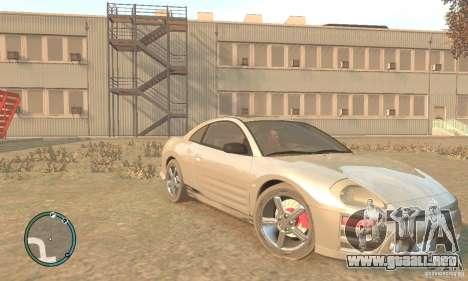 Mitsubishi Eclipse Spyder para GTA 4 vista hacia atrás