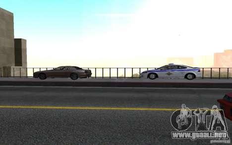 Policía en el puente de San Fiero_v. 2 para GTA San Andreas segunda pantalla