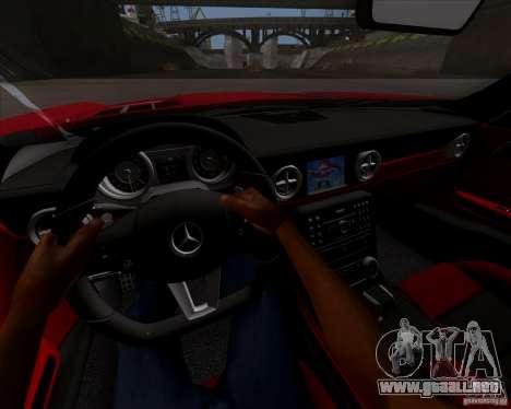 Mercedes-Benz SLS AMG V12 TT Black Revel para GTA San Andreas vista hacia atrás