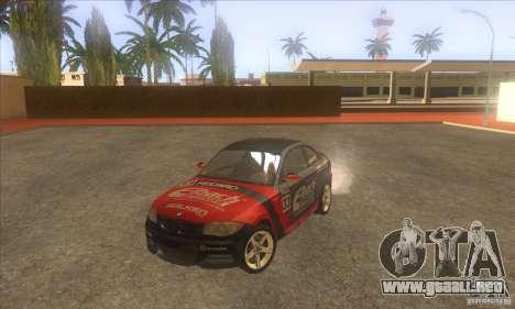 BMW 135i (E82) para la vista superior GTA San Andreas