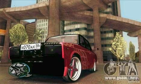VAZ 2107 coche Tuning para la vista superior GTA San Andreas