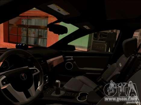 Pontiac G8 Police para GTA San Andreas left