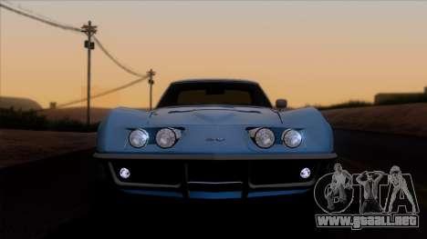 Chevrolet Corvette C3 Stingray T-Top 1969 v1.1 para GTA San Andreas vista hacia atrás