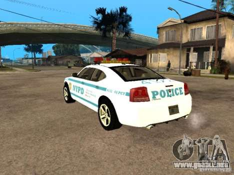 Dodge Charger Police NYPD para GTA San Andreas left