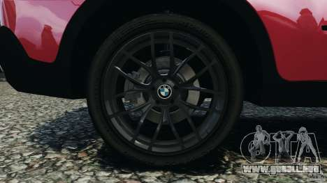 BMW X5 xDrive30i para GTA 4 vista superior