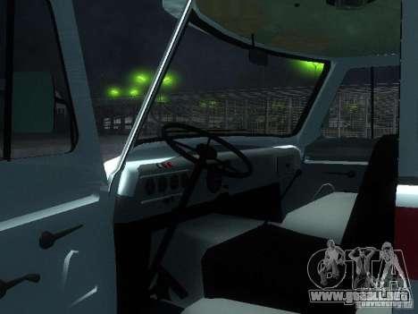 3962 UAZ ambulancia para GTA San Andreas vista hacia atrás