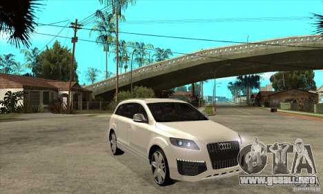 AUDI Q7 V12 V2 para GTA San Andreas vista hacia atrás
