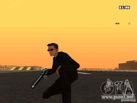 Blue Weapon Pack para GTA San Andreas