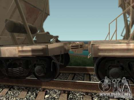 Tolva de cemento para GTA San Andreas vista posterior izquierda