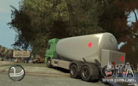 Mercedes Benz Actros Gas Tanker para GTA 4 vista superior