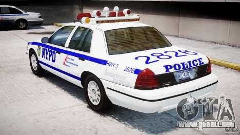 Ford Crown Victoria NYPD para GTA 4 visión correcta