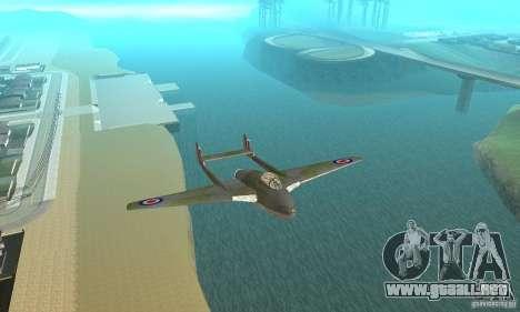 De-Havilland-Vampire ver 2.0 para visión interna GTA San Andreas