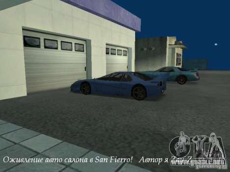 Showroom de trabajo en San Fierro v1 para GTA San Andreas