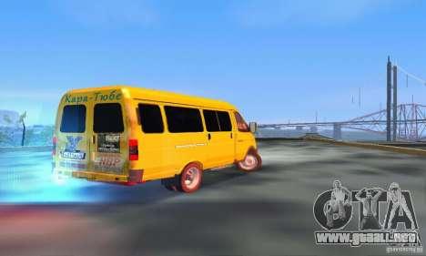 Minibús Gazelle 2705 para GTA San Andreas vista posterior izquierda