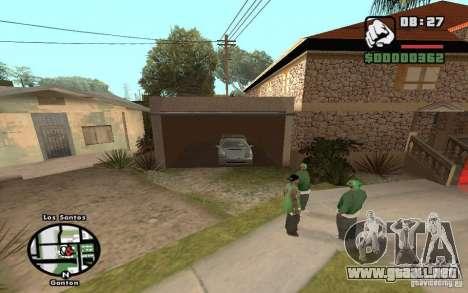 New CJs House para GTA San Andreas sucesivamente de pantalla