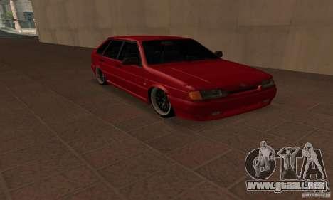 Ваз Dag 2114 estilo para la visión correcta GTA San Andreas