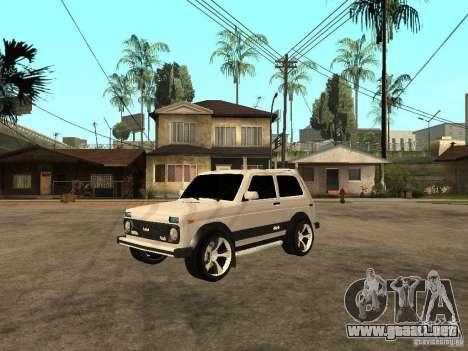 La afinación luz Niva VAZ 21213 para GTA San Andreas