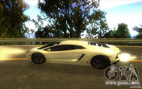 Lamborghini Aventador LP700-4 para visión interna GTA San Andreas