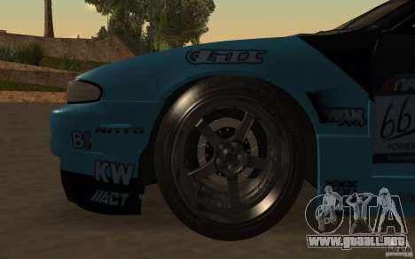 Nissan S14 Matt Powers 2012 para la vista superior GTA San Andreas
