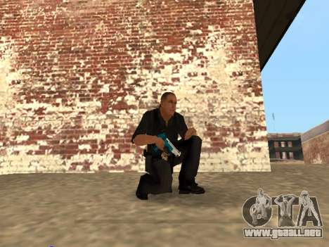 Chrome and Blue Weapons Pack para GTA San Andreas séptima pantalla