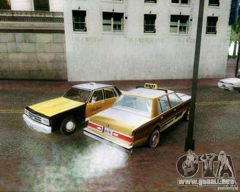 Chevrolet Impala 1986 Taxi Cab para la vista superior GTA San Andreas