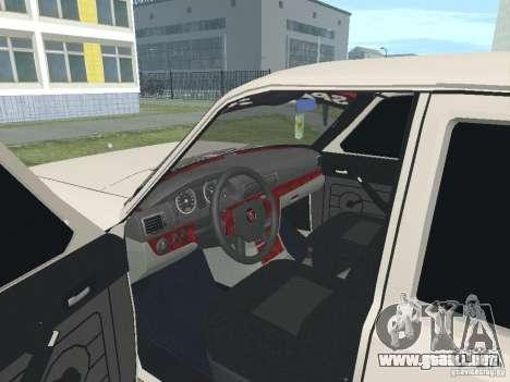 Volga GAZ-24 105 para GTA San Andreas vista hacia atrás