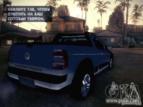Volkswagen Saveiro Cross para la visión correcta GTA San Andreas