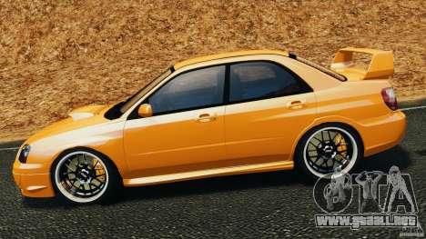 Subaru Impreza WRX STI 2005 para GTA 4 left