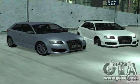 Audi S3 Full tunable para la visión correcta GTA San Andreas