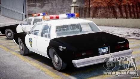 Chevrolet Impala Police 1983 para GTA 4 visión correcta