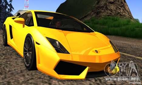 Lamborghini Gallardo LP560-4 para visión interna GTA San Andreas