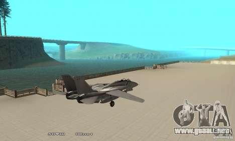 F14W Super Weirdest Tomcat Skin 1 para GTA San Andreas vista posterior izquierda