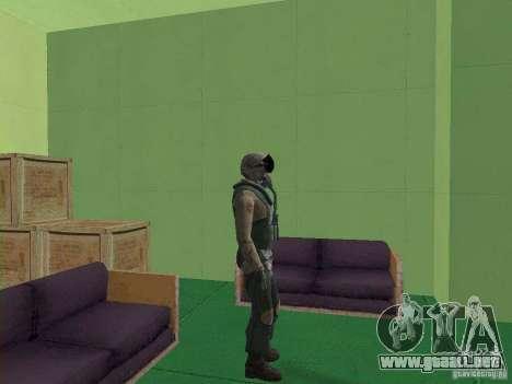 Piloto militar para GTA San Andreas sucesivamente de pantalla