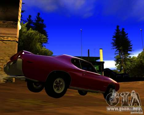 Pontiac GTO 1969 para GTA San Andreas vista posterior izquierda