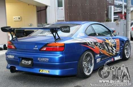 Nissan Silvia INGs +1 para vista lateral GTA San Andreas