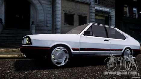 Volkswagen Passat Pointer GTS 1988 Turbo para GTA 4 Vista posterior izquierda