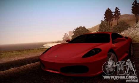 Ferrari F430 v2.0 para la vista superior GTA San Andreas