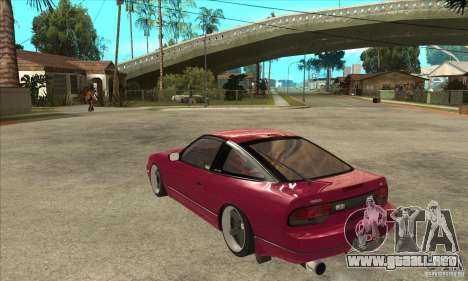 Nissan 240SX Zenki para GTA San Andreas vista posterior izquierda